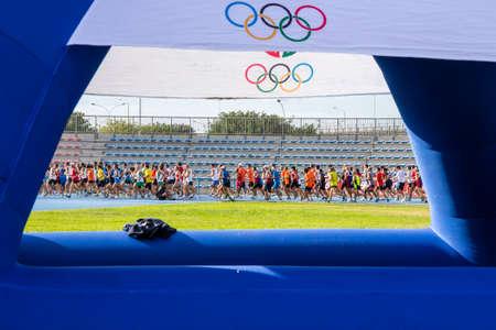 CAGLIARI, ITALY - NOVEMBER 4, 2012: Olympic 5th Half marathon - 4th memorial Delio Serra - Sardinia