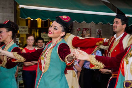 QUARTU SE, ITALY - JULY 14, 2012: International Festival of Folklore - 26 ^ Sciampitta - Sardinia