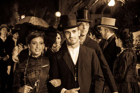QUARTU SE, ITALY - SEPTEMBER 16, 2012: So they were dressed in Quartu - a parade of costumes and vintage attirements - Sardinia Redakční