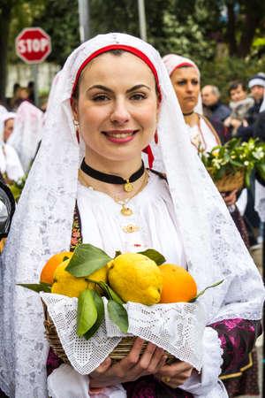 MURAVERA, ITALY - APRIL 2, 2017: 45th Citrus Festival - Sardinia