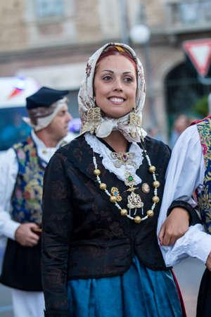 QUARTU SE, ITALY - JULY 15, 2017: 31 Sciampitta - International Folklore Festival - Sardinia (Folk Group Froris de Beranu Quartu)