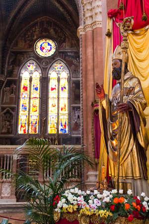 BOLOGNA, ITALY - JULY 23, 2017: Basilica of San Petronio - Emilia Romagna