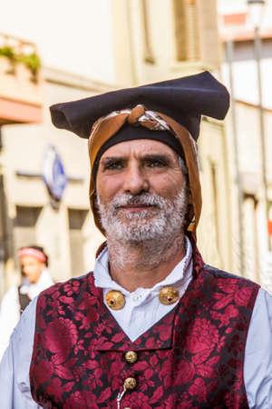 SELARGIUS, ITALY - SEPTEMBER 14, 2014: Ancient Selargino wedding - Sardinia