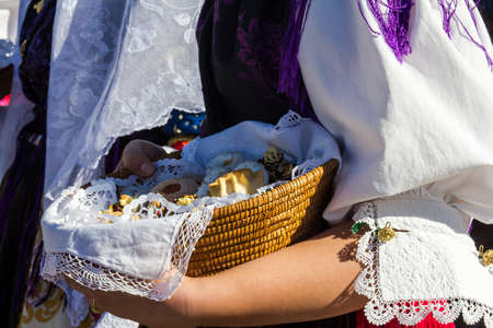 CAGLIARI, ITALY - OCTOBER 29, 2016: Invitas, promenade Porto, Sardinia of traditions, exhibitions and food - sardinia Editorial
