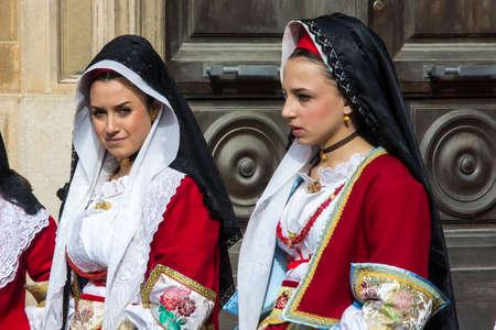 CAGLIARI, ITALY - MAY 1, 2013: 357 Religious Procession of SantEfisio - Sardinia