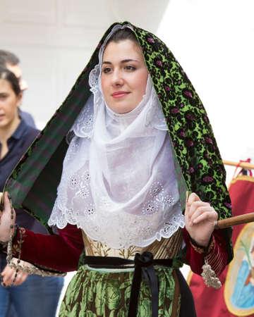 CAGLIARI, ITALY - MAY 1, 2014: 358 Religious Procession of SantEfisio - Sardinia