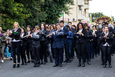 MURAVERA, ITALY - APRIL 2, 2017: 45th Citrus Festival - G. Verdis Band of Muravera - Sardinia