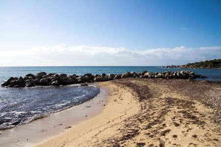 Quartu: overview of Is Mortorius beach - Sardinia