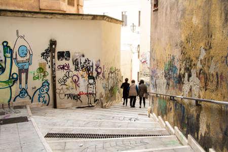 Cagliari: alleys of the neighborhood the marina - Sardinia