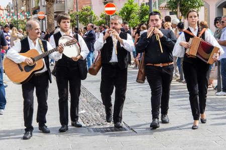 QUARTU SE, ITALY - SEPTEMBER 15, 2013: Grape festival, in honor of the festivities of SantElena - Sardinia