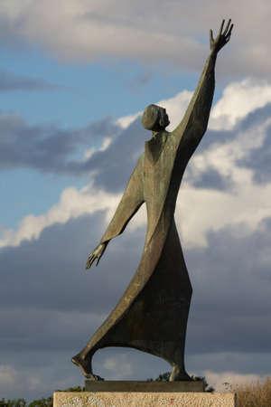 CAGLIARI, ITALY - NOVEMBER 18, 2014: Statue of San Francesco at the hill of Monte Urpinu - Sardinia Editorial
