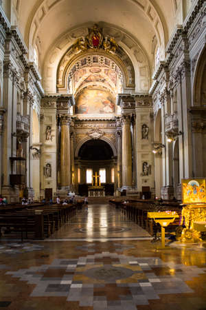BOLOGNA, ITALY - JULY 26, 2017: Cathedral of San Pietro - Emilia Romagna Editorial