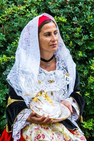 SELARGIUS, ITALY - SEPTEMBER 10, 2017: 57th Edition of the ancient Selargino wedding - Sardinia