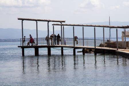 CAGLIARI: Lines and reflections on the calm sea of ??the Marina Small marina - Sardinia Imagens