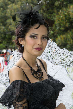 CAGLIARI, ITALY - OCTOBER 20, 2013: Sunday at the Grande Jatte in the public gardens - Sardinia