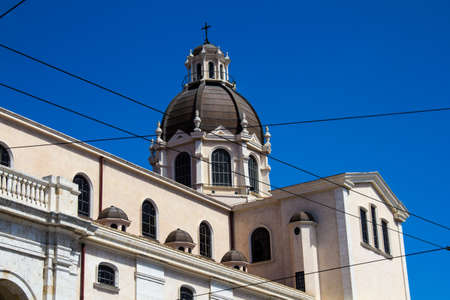 Cagliari: external architecture of the Basilica of Bonaria - Sardinia