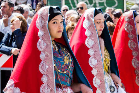 CAGLIARI, ITALY - MAY 1, 2016: 360th Festival of Sant'Efisio - Sardinia