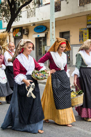 QUARTU SE, ITALY - SEPTEMBER 15, 2013: Grape festival, in honor of the festivities of Sant'Elena - Sardinia