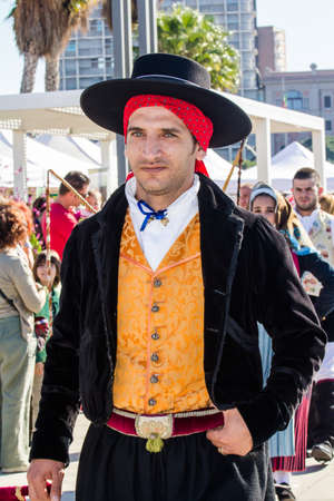 CAGLIARI, ITALY - OCTOBER 29, 2016: Invitas, Porto promenade, Sardinia of traditions, exhibitions and food. - Cultural Ass.