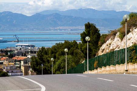 Cagliari: city panorama - Sardinia Imagens