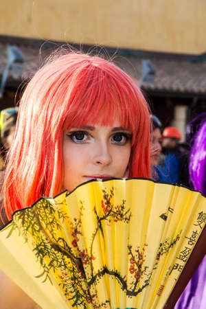 CAGLIARI, ITALY - AUGUST 9, 2015: Lost in Cosplay at the former glassworks of Pirri - Sardinia