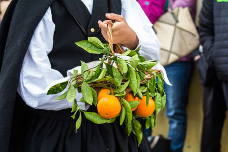 MURAVERA, ITALY - APRIL 2, 2017: 45th Citrus Festival - Sardinia