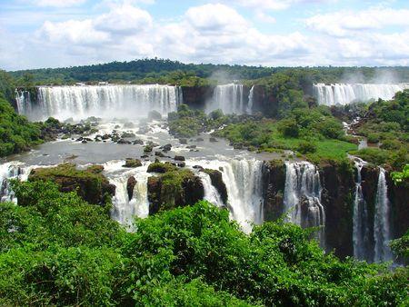 rio amazonas: Cataratas Foto de archivo