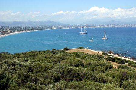 cloud drift: South of France coast