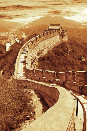wall clouds: Great wall of Beijing,China