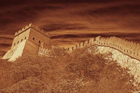 The Great Wall in China Standard-Bild