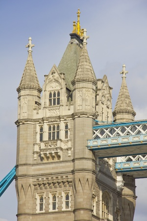 Detail of the Tower Bridge, London, England photo
