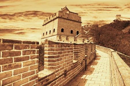 badaling: The Great Wall of China Stock Photo