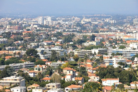 contrasted: Aerial view of Antibes, south of France Stock Photo