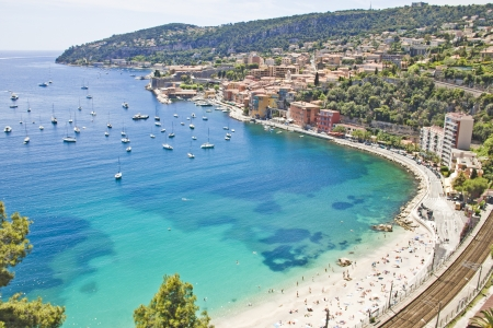 french riviera: Coast in Eze, south of France