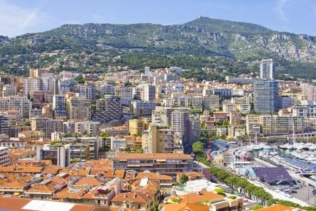 Aerial view of Monaco photo