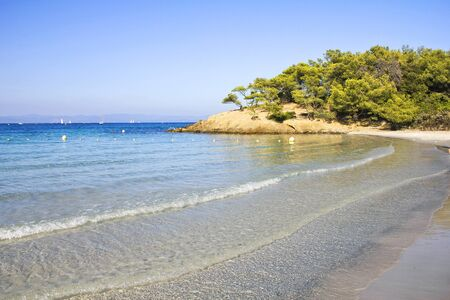 south coast: Beach in Porquerolles, French Riviera