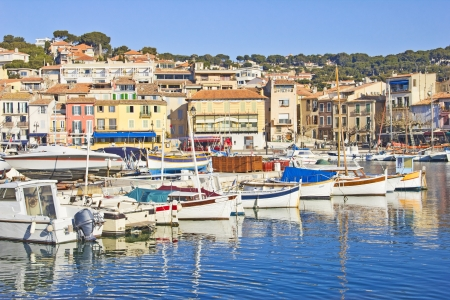 Boats in Cassis, France photo