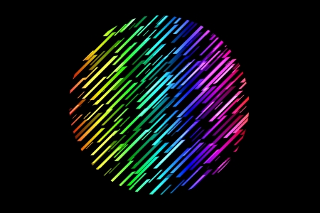 trapezium: Colorful globe made by trapezium lines