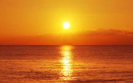 sunrise beach: Sunset and ocean