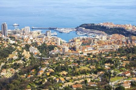 carlo: Aerial view of Monaco