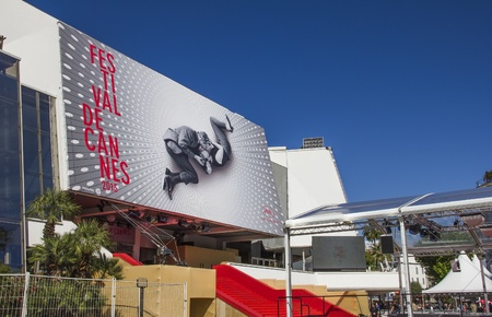 The Palais des Festivals during the ceremony 66th Cannes Film Festival on May 17, 2013 in Cannes, France Editorial