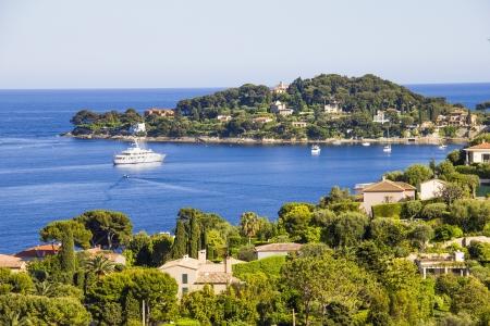 Aerial view of Cap Ferrat, French Riviera 免版税图像