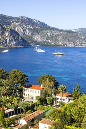 Aerial view of Saint Jean Cap Ferrat, South of France photo