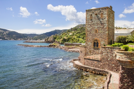 Castle in Mandelieu-la Napoule, French Riviera Zdjęcie Seryjne