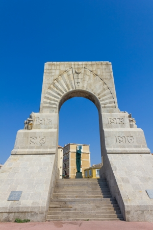 Historic War Monument in Marseilles, France photo