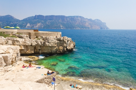 cote: Calanques in Cassis, French Riviera Stock Photo