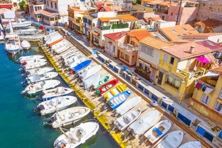 d'azur: Port in Vallon des Auffes, Marseilles, France
