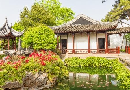 Yuan garden in Shanghai, China 免版税图像