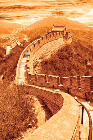 great wall: The Great wall of China Stock Photo