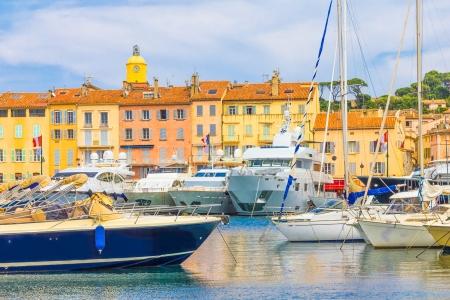 Saint-Tropez in France 免版税图像